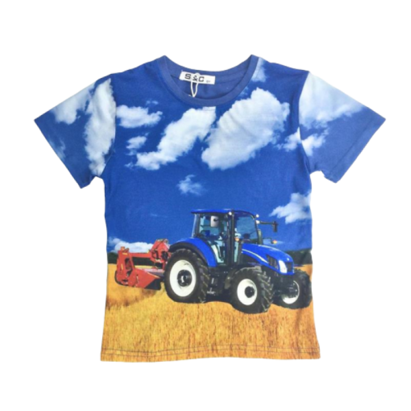blauw shirt Ford / New Holland tractor
