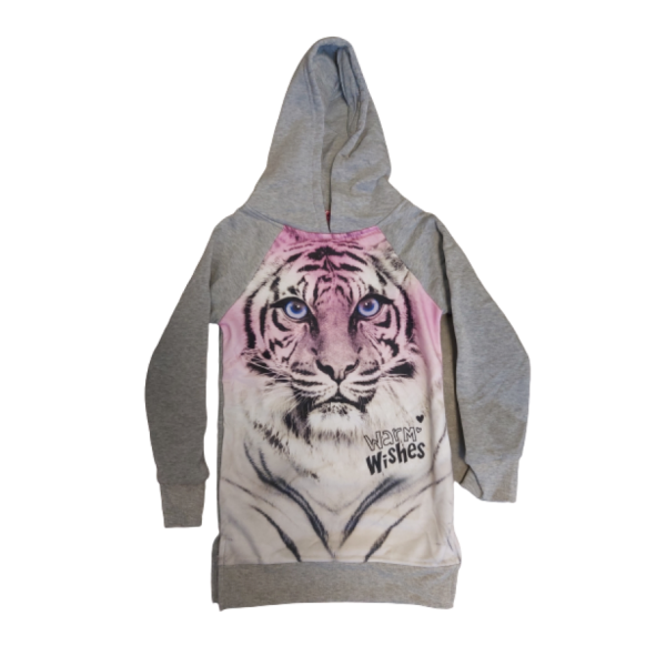 sweatdress tiger grey